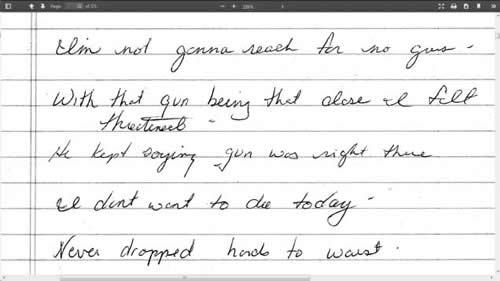john b geer report written by police