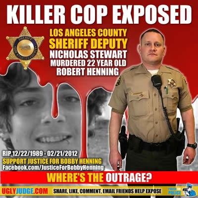 los angeles county sheriff deputy nicholas stewart shot to death unarmed bobby henning