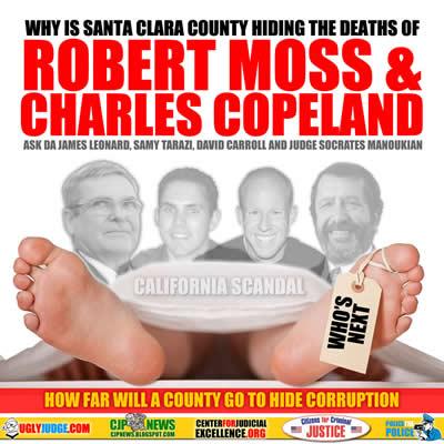 how far is santa clara county california judge socrates manoukia and da james leonard willing to go to cover up murder