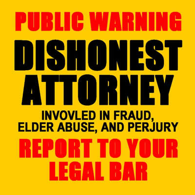 christopher Overgaard lawyer glendale california dishonest attorney fraud elder abuse against gertrude gettinger