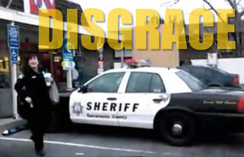sacrament county sheriff deputy is a disgrace