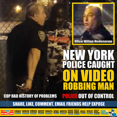 new york new york police officer caught on video robbing man