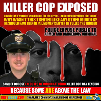 cincinnati ohio killer cop ray tensing shoots sam dubose in the head on purpose