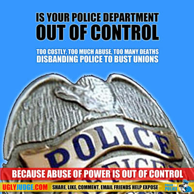disbanding police to bust unions and take back control of justice