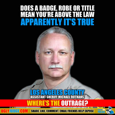 los angeles california county assistant sheriff michael rothans bought a stolen car and was not prosecuted