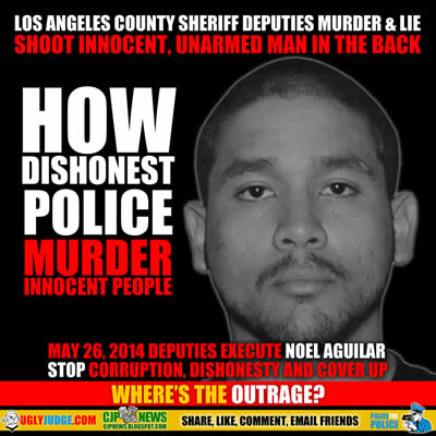 los angeles county sheriff murder noel aguilar then plant gun