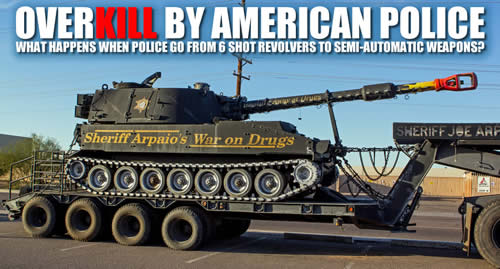 out of control police militarization of police for profit
