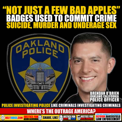 oakland california Police department not just a few bad apples above the law