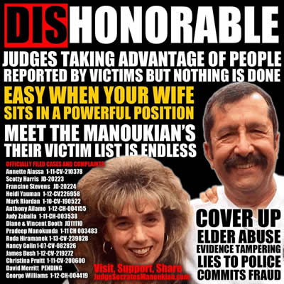 santa clara county california judge socrates manoukian and wife defraud victims