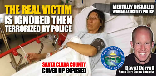 santa clara county heidi yauman hospitalized after terrorized by Santa Clara county officer David Carroll