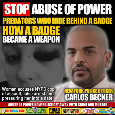 Woman accuses NYPD cop carlos becker of assault false arrest and pressuring her into a date files 150M lawsuit
