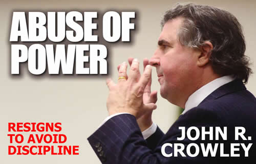 washington state dishonest lawyer John r crowley resigns like a coward to avoide discipline avoiding any accountability