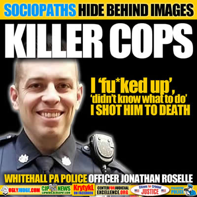 Whitehall PAPolice Officer Jonathan Roselle MURDERED44 year old Joseph Santos