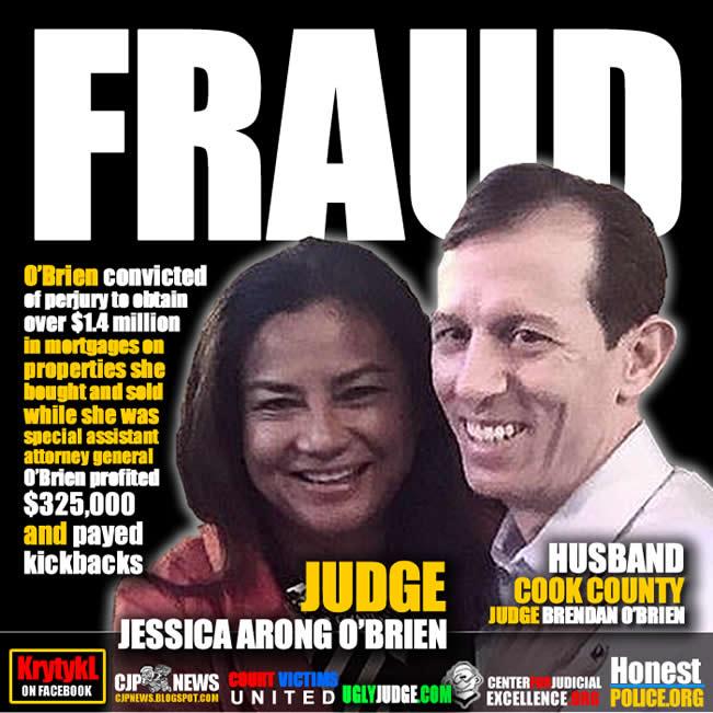 Chicago Illinois Dishonorable convictied Judge Jessica Arong O'Brien