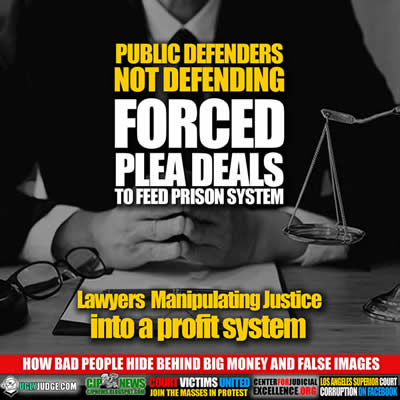 lawyers manipulating justice system into a profit system public defenders forcing plea deals instead of defending