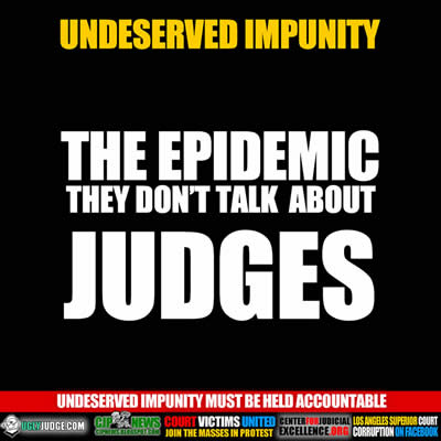 undeserved impunity the epidemic they don't talk about judges